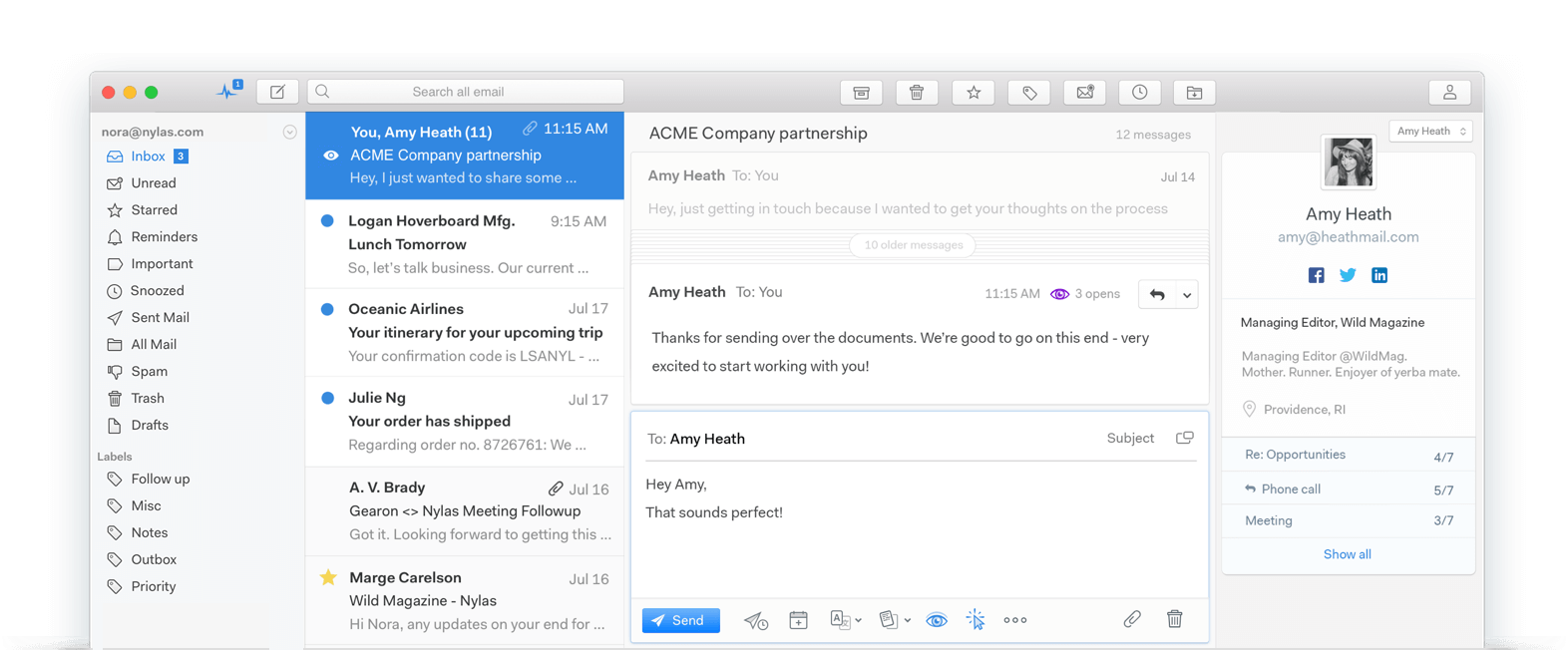 Introducing Mailspring: A new Mail Client designed for macOS High Sierra Image